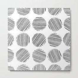 ELEGANT AND ABSTRACT MONOCHROME POLKA DOT Metal Print