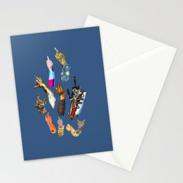 Artists Middle Fingers Stationery Cards