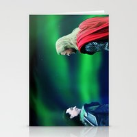 northern lights Stationery Cards featuring Northern Lights by LindaMarieAnson