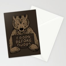 Foods Before Dudes Stationery Cards