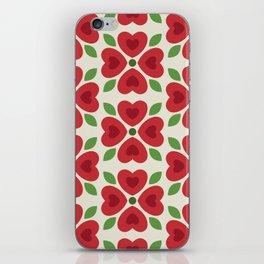 Christmas Heart Flowers iPhone Skin
