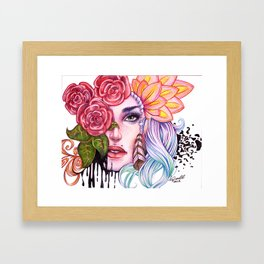 Rose Lady Abstract Framed Art Print