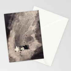 i travel by shooting star Stationery Cards