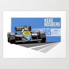 Keke Rosberg - 1985 Detroit Art Print