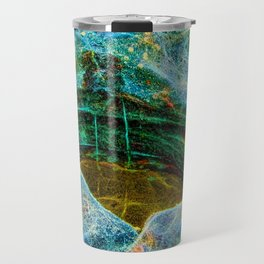 Abstract rocks with barnacles and rock pool Travel Mug