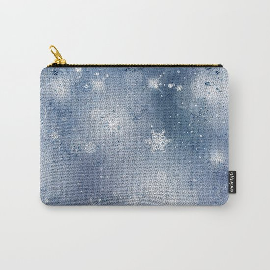 Silver blue snowflakes Carry-All Pouch