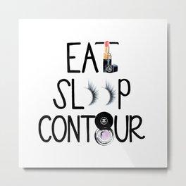 EAT SLEEP CONTOUR Metal Print