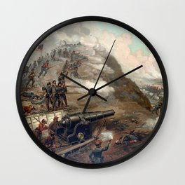 The Capture Of Fort Fisher Wall Clock