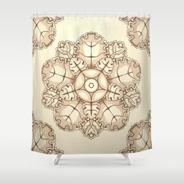 Beige elegant ornament fretwork Baroque style Shower Curtain