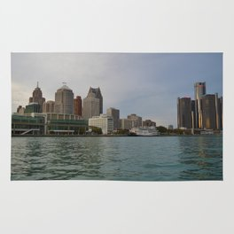 Detroit Skyline Rug