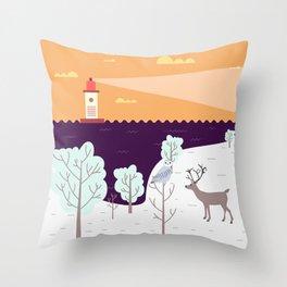 Wild Light Throw Pillow