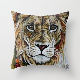 Beauty Lion Throw Pillow
