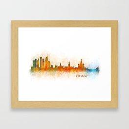 Moscow City Skyline art HQ v3 Framed Art Print