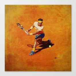 Rafael Nadal Sliced Backhand Canvas Print