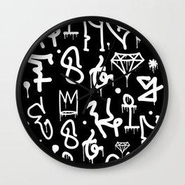Crowns, Diamonds & Graffiti Wall Clock