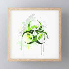 Symbol of Biological Danger Drawn with Paint Framed Mini Art Print