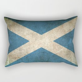 Old and Worn Distressed Vintage Flag of Scotland Rectangular Pillow