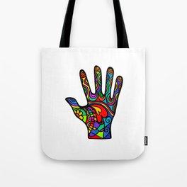 Folk Art Hand Tote Bag