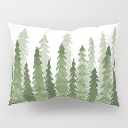 Watercolor Redwood Trees Pillow Sham