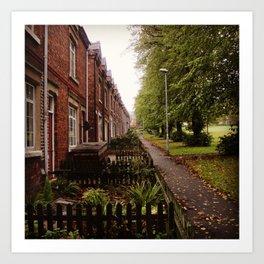 HOUSE ROW. Art Print