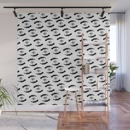 Seamless pattern  black and white with eyes, hands and other magic elements. Wall Mural