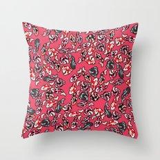 Red Koi Throw Pillow
