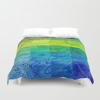 quilt Duvet Covers featuring Bali Quilt by Catherine Holcombe