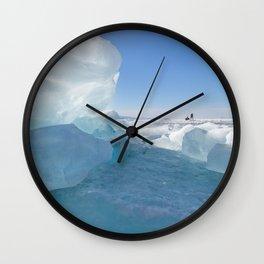 Baikal Ghost. Lake Baikal Ice Adventure Wall Clock