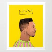 fresh prince Art Prints featuring Fresh Prince by Fresh Prints