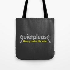 Heavy Metal Librarian Tote Bag