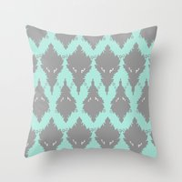 persian Throw Pillows featuring Persian Textile by Nahal