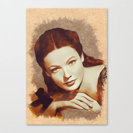 Gene Tierney, Hollywood Legend Canvas Print