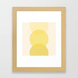 Golden Sunshine Circle Gradient Framed Art Print