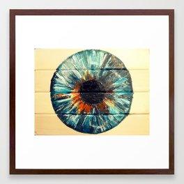 BERYL BLUE IRIS Framed Art Print