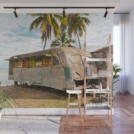 Playa Larga Bus Cuba Beach Hobo House Landscape Tropical Island Home Caribbean Sea Wall Mural