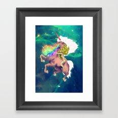 Gaga&Horse (The Galactic Tour of orgasms stellars from Unicorn) Framed Art Print