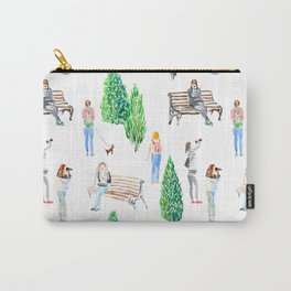 girls in the park pattern Carry-All Pouch