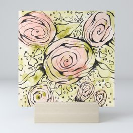 Mixed Media Roses Mini Art Print