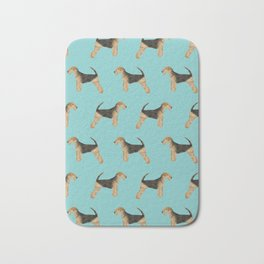 Airedale Terrier pattern dog breed cute custom dog pattern gifts for dog lovers Bath Mat