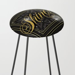 Let it Shine - this light Counter Stool
