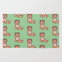 Yoga lover Fox Rug