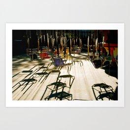 abandoned swings Art Print