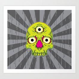 3 Eyed Jackass (green) Art Print