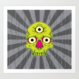 3 Eyed Jackass (green) Art Print