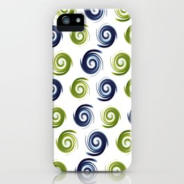 Blue Madness iPhone Case