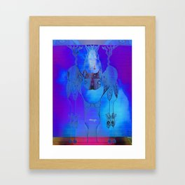 Tie Dye Scribble Framed Art Print