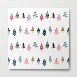Christmas Trees (Arctic) Metal Print