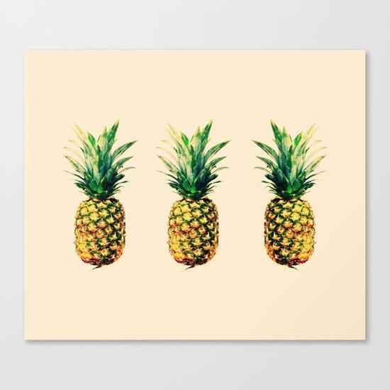 Golden pineapple Canvas Print