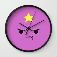 lumpy space princess Wall Clocks featuring Lumpy Space Princess by Expired Kimchi