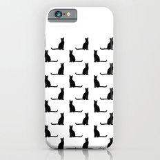 Black cat pattern Slim Case iPhone 6s